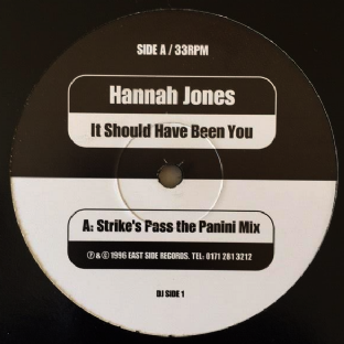 "Hannah Jones ‎- It Should Have Been You (12"") (Promo) (VG-/VG-)"